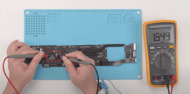 Mesure diode macbook air